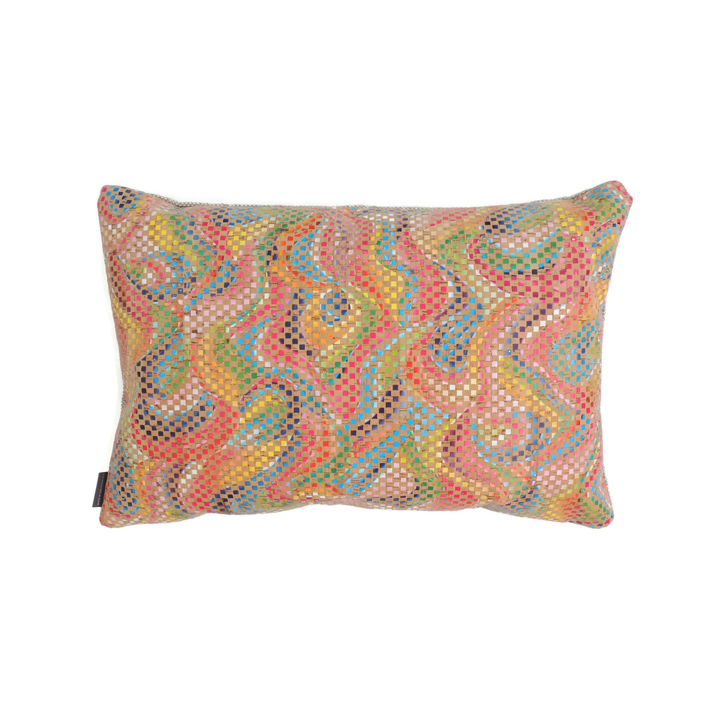 Lumbar Pillow Cover in Mosaic Cork