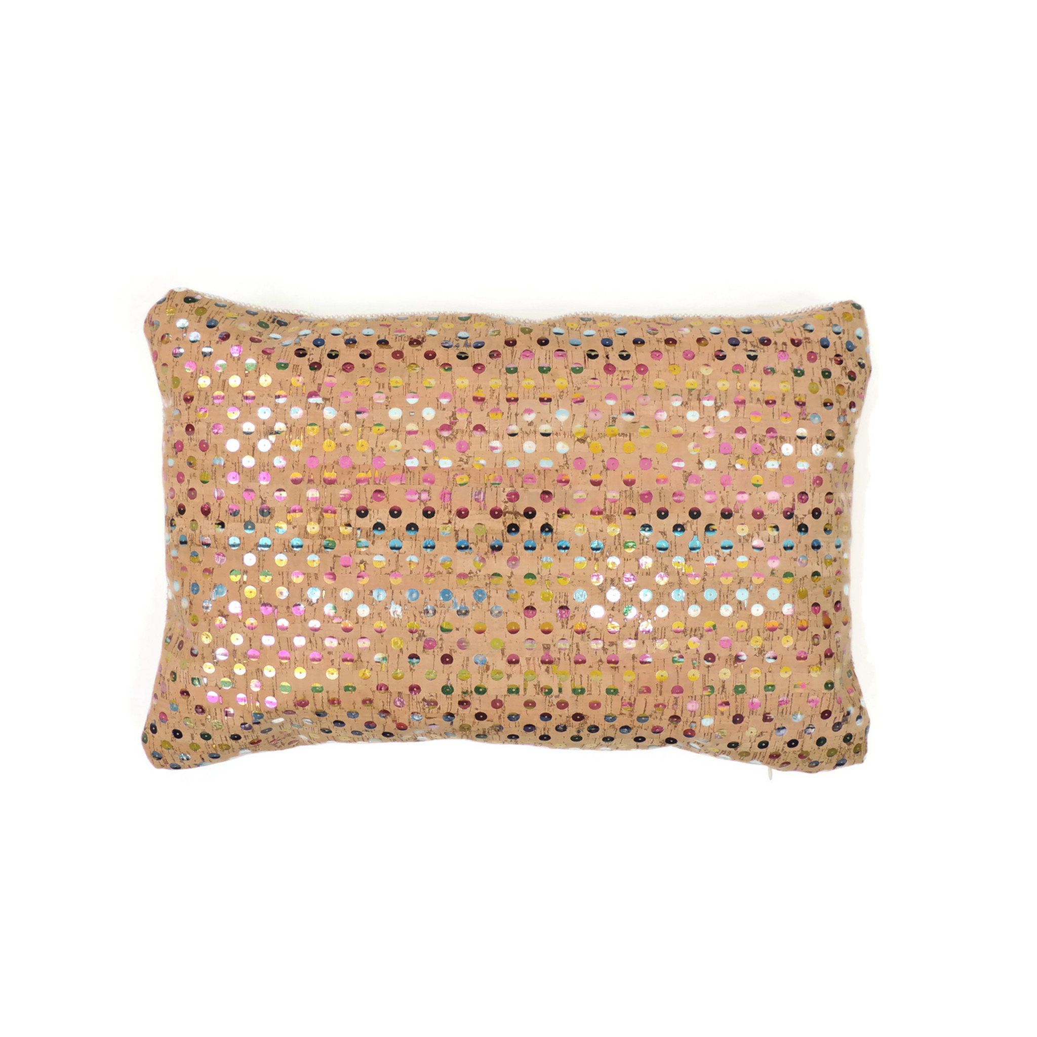 Lumbar Pillow Cover in Sequin Cork