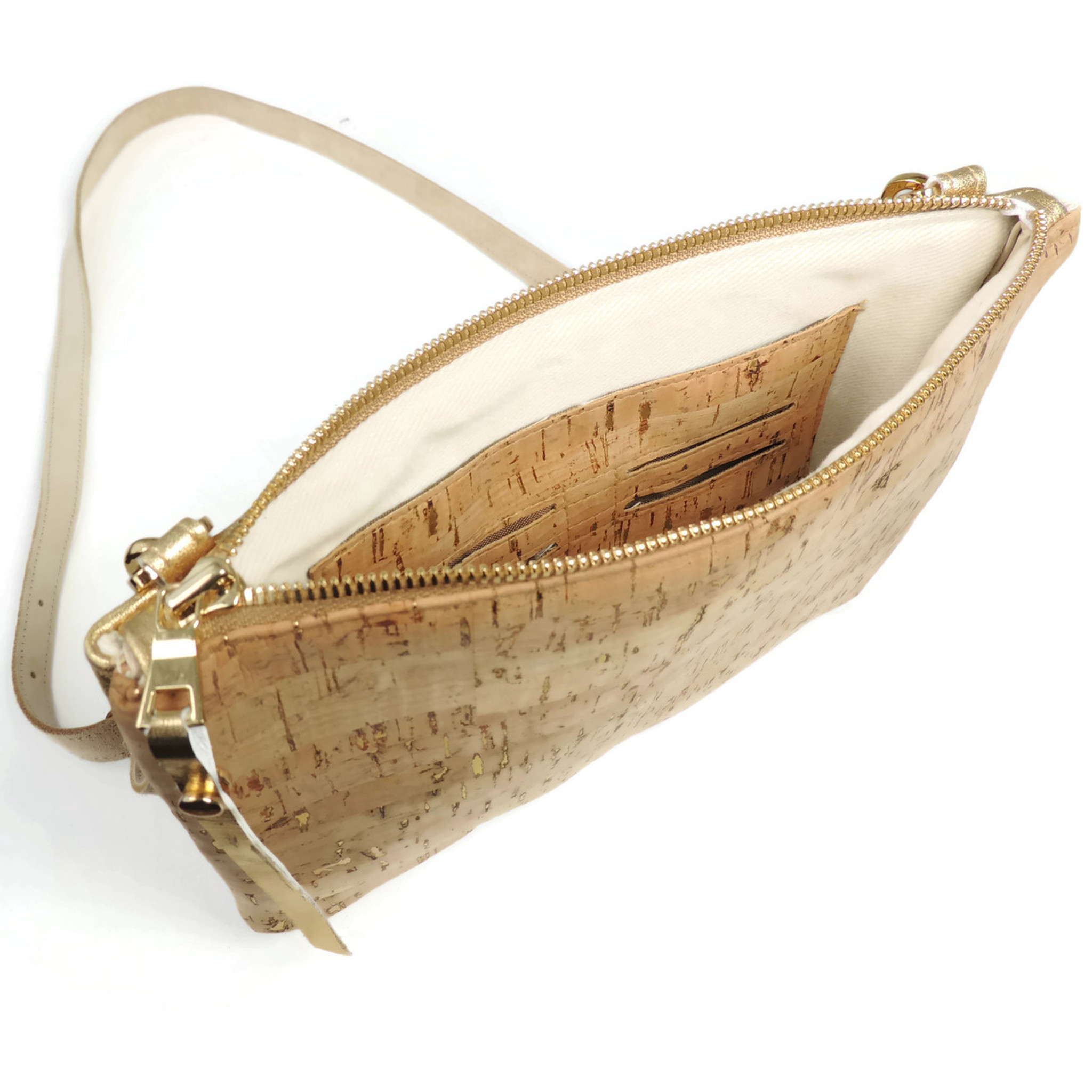 Cork & Leather Crossbody Purse in White Check Cork