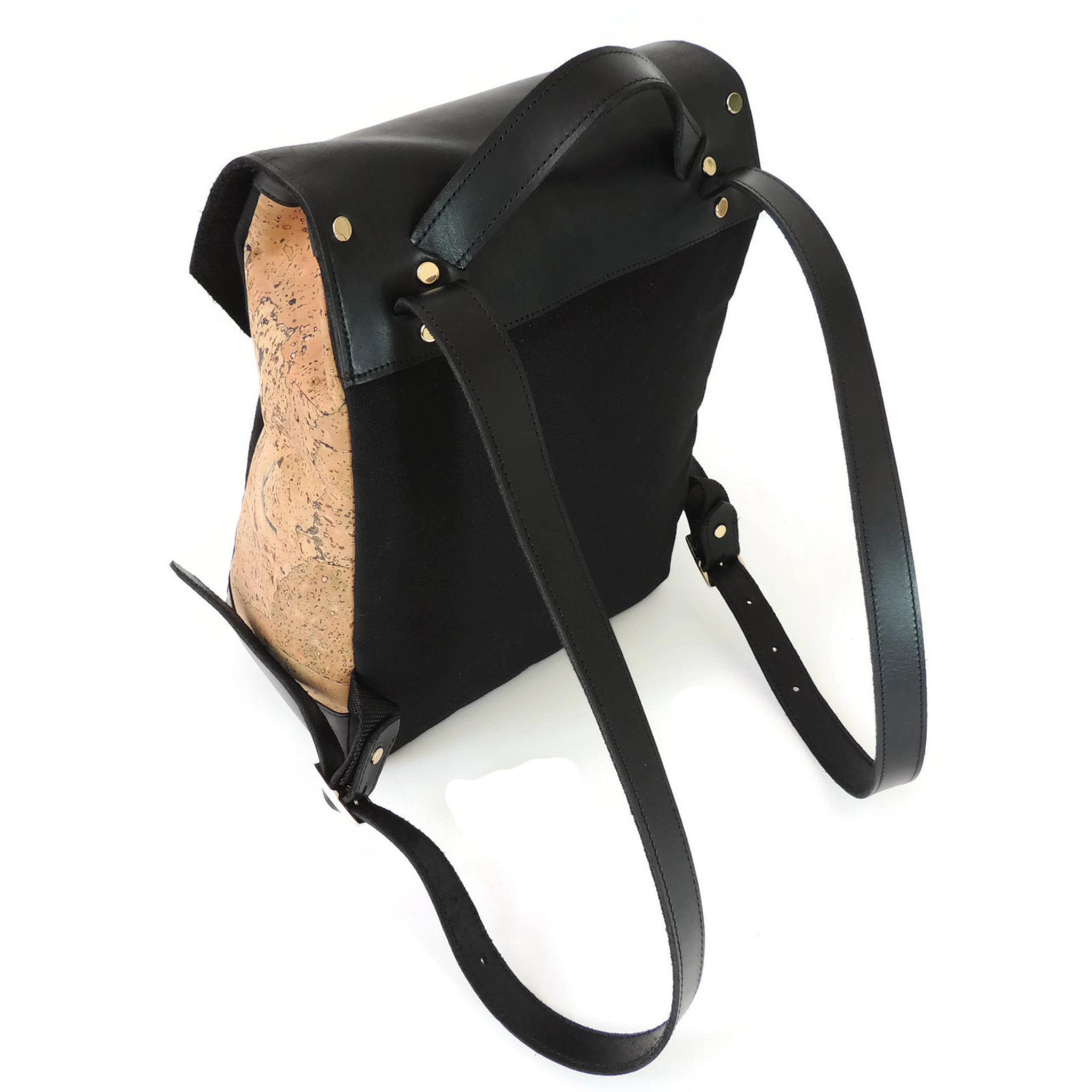 Cork & Leather Backpack in Marble Cork