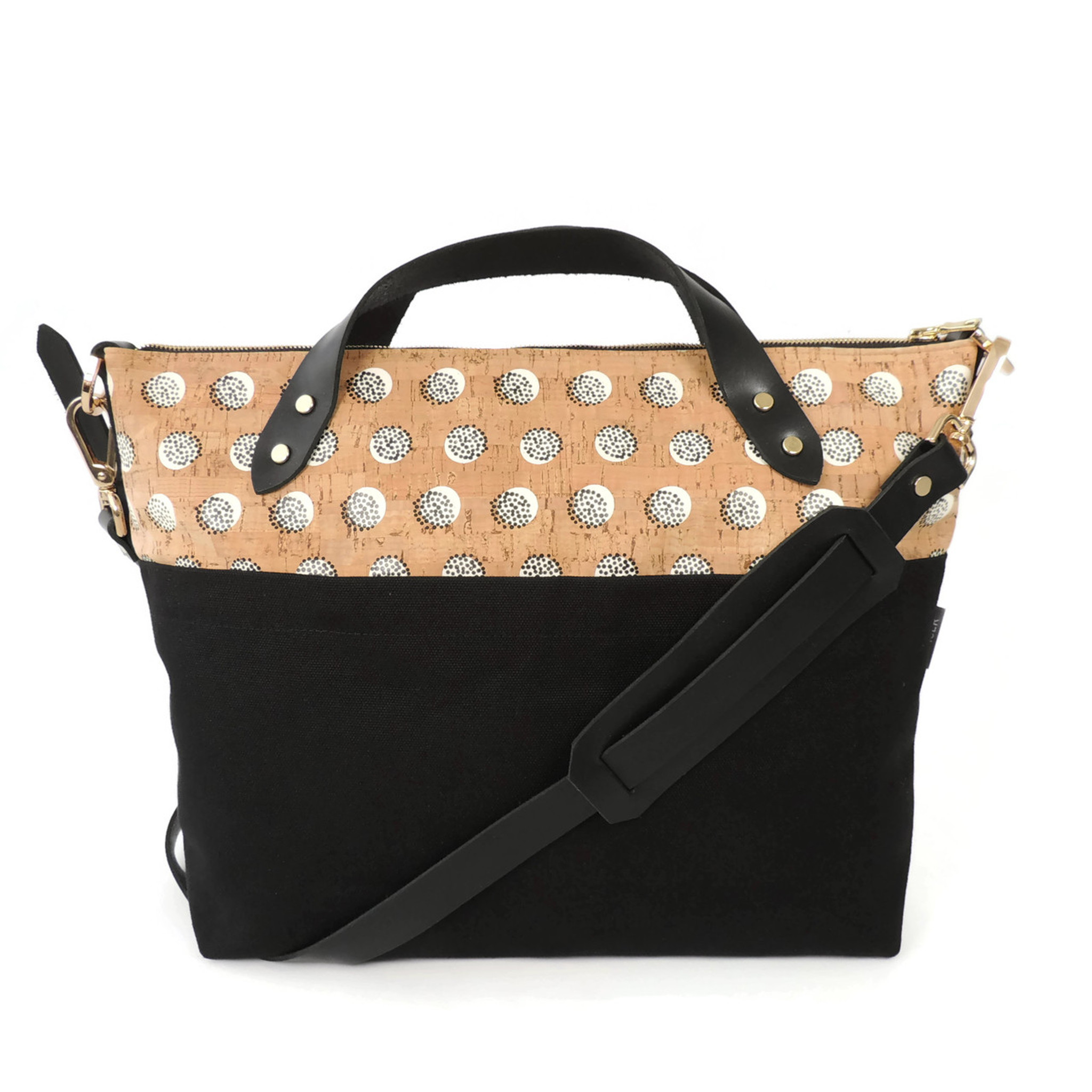 Satchel in Black Dandelion Cork