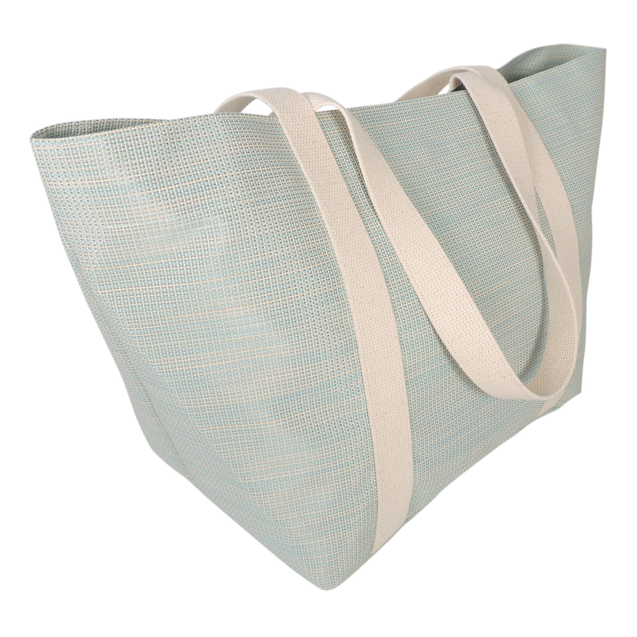 Beach Tote in Cabana Blue