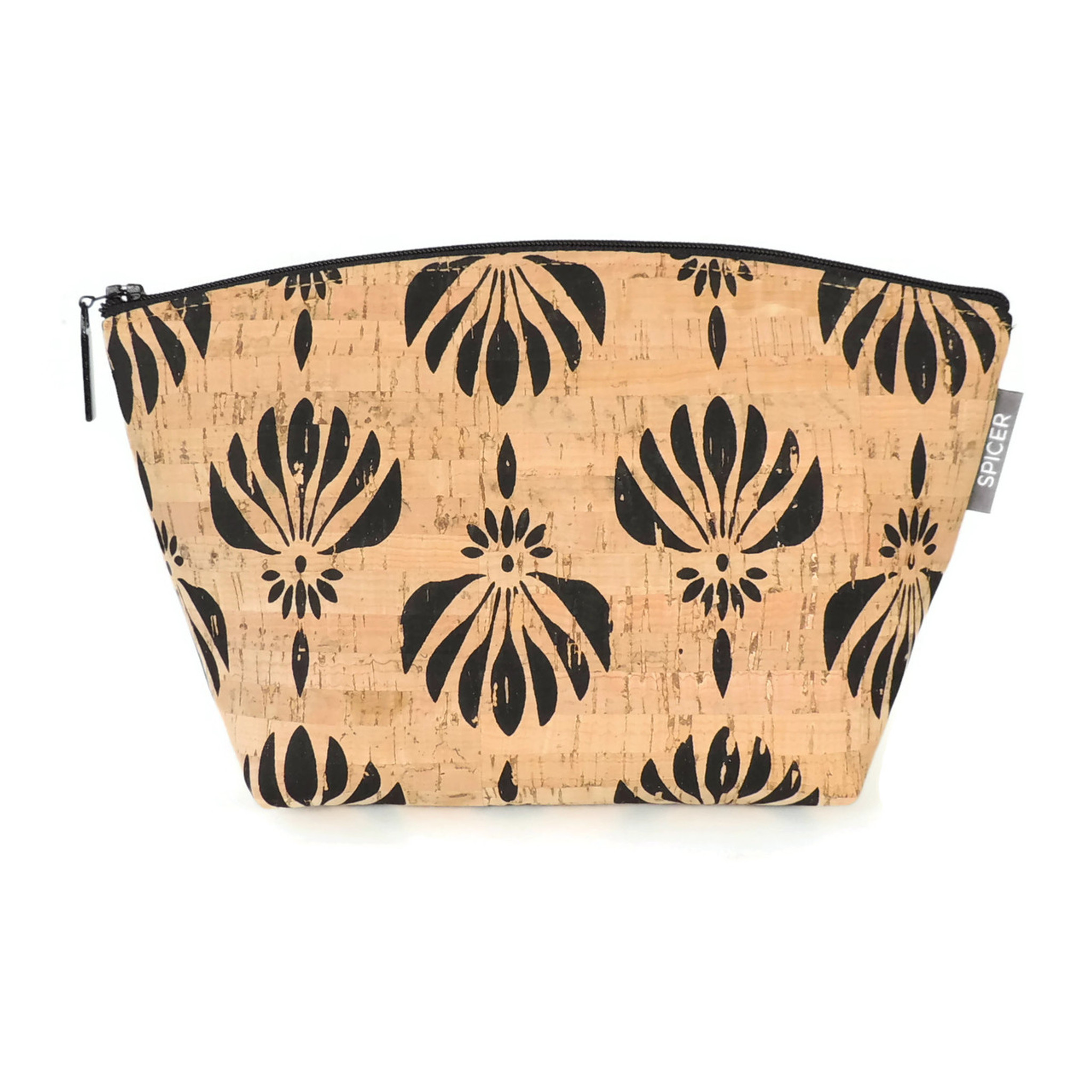Small Standing Pouch in Black Lotus Cork