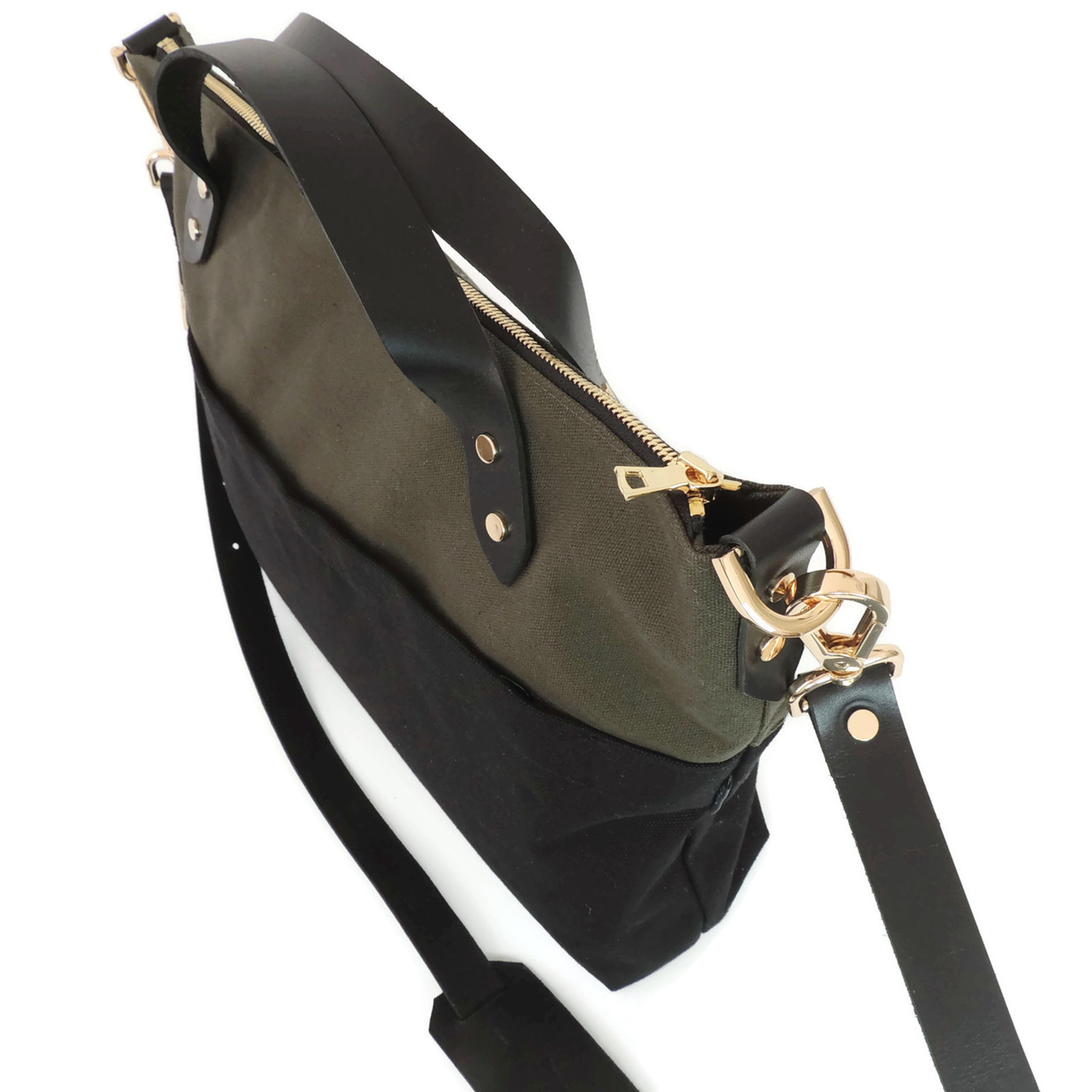 The Satchel in Olive and Black