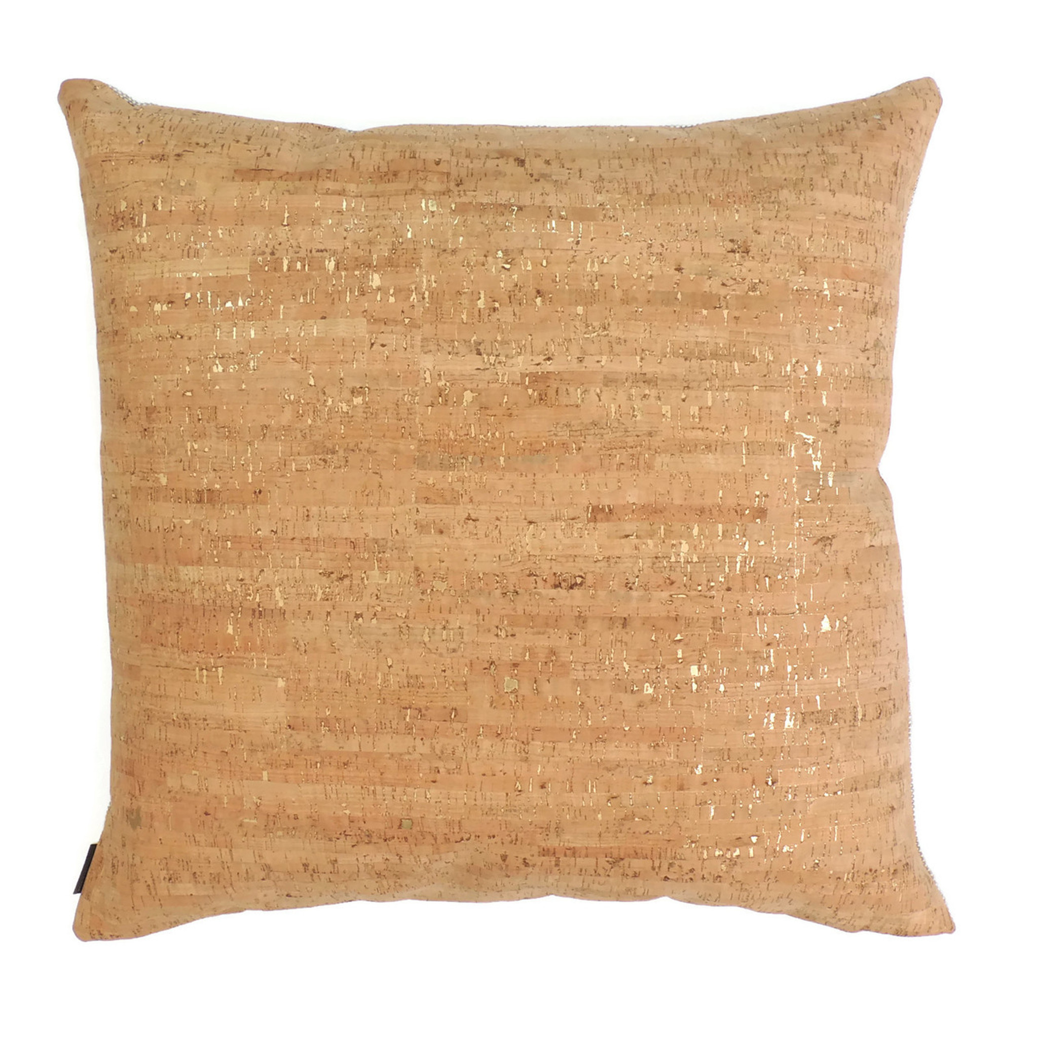 "24"" by 24"" Pillow Cover in Cork Dash Gold"