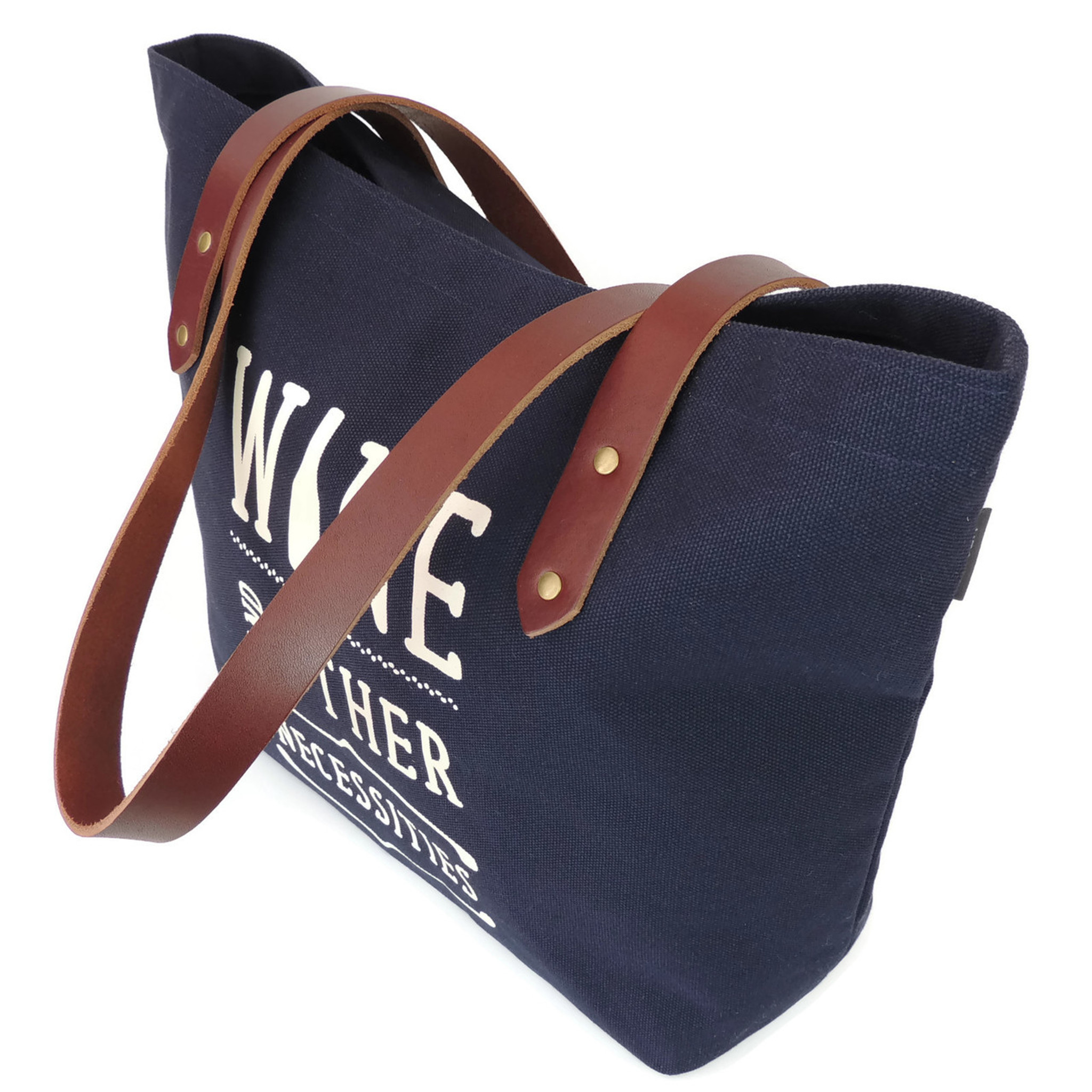 Wine & Other Necessities Canvas Market Tote