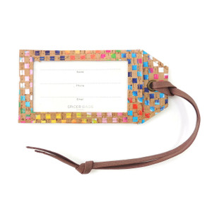 Luggage Tag in Mosaic Cork