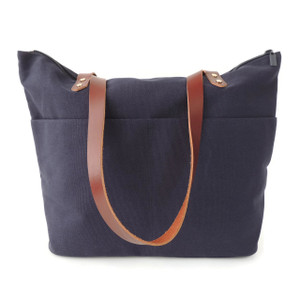 Travel Tote in Navy Canvas