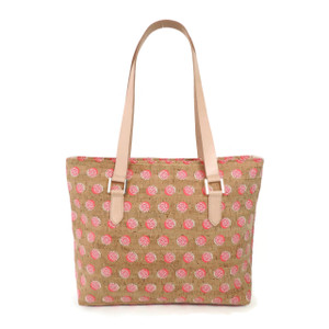 Boot Tote in Pink Dandelion Cork