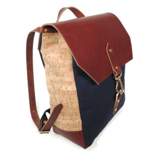 Cork & Leather Backpack in Cork Dash