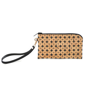 Phone Wristlet in Black Cork Dots