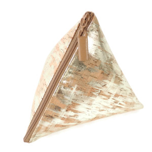 Triangle Pouch in Brushed Gold Cork