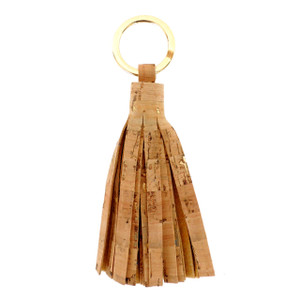 Cork Tassel Key Ring
