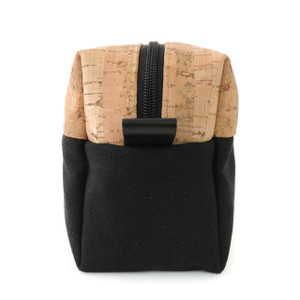 Dopp Kit in Cork Dash and Black Canvas