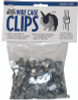 Description  Popular clip for assembly or repair of cages, pens, traps or fences.   For use with 14 or 16 gauge wire. 1 lb pkg contains approximately 400 clips.