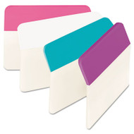 Angled Tabs, 2 x 1 1/2, Assorted Pastel Colors, 24/Pack