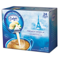 Flavored Liquid Non-Dairy Coffee Creamer, French Vanilla, 0.4375 oz Cup, 24/Box