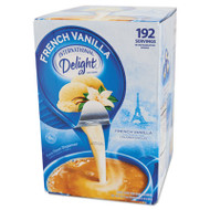 Flavored Liquid Non-Dairy Coffee Creamer, French Vanilla, 0.4375 oz Cups, 192/CT