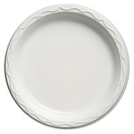 Aristocrat Plastic Plates, 10 1/4 Inches, White, Round, 125/Pack
