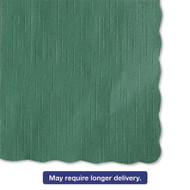 Solid Color Scalloped Edge Placemats, 9 1/2 x 13 1/2, Hunter Green, 1000/Carton