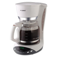 12-Cup Programmable Coffeemaker, White
