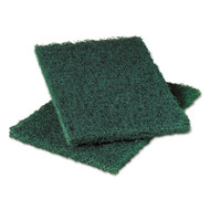 Commercial Heavy-Duty Scouring Pad 86, Dark Green, 6 x 9, 6/Pack, 10 Pack/Carton