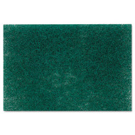 "Commercial Heavy Duty Scouring Pad 86, 6"" x 9"", Green, 12/Pack, 3 Packs/Carton"