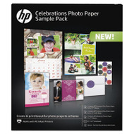 Celebration Photo Paper Sample Pack, Assorted Sizes, 11.5 mil, 12 Sheets/Pack