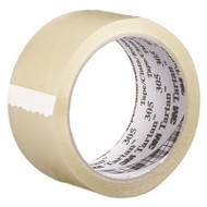 "305 Box Sealing Tape, 72 mm x 100 m, 3"" Core, Clear, 24/Carton"