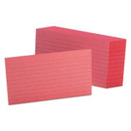 Ruled Index Cards, 3 x 5, Cherry, 100/Pack