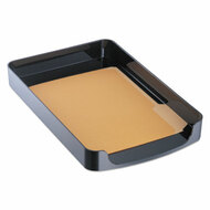 2200 Series Front-Loading Desk Tray, Single Tier, Plastic, Legal, Black