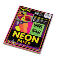 Array Colored Bond Paper, 24lb, 8-1/2 x 11, Assorted Neon, 100 Sheets/Pack