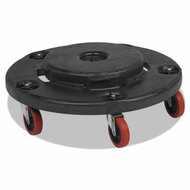Brute Quiet Dolly, 250lb Capacity, 18 1/4 dia. x 6 5/8h, Black