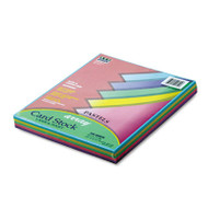 Array Card Stock, 65 lb., Letter, Assorted Pastel Colors, 100 Sheets/Pack