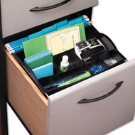 Hanging Desk Drawer Organizer, Plastic, Black