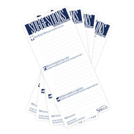 Suggestion Box Cards, 3-1/2 x 8, White, 25 Cards/Pack