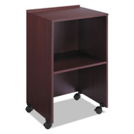 Lectern Base/Media Cart, 21-1/4w x 17-1/2d x 33-3/4h, Mahogany