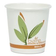 Bare Eco-Forward PCF Hot Drink Cups, Paper, 10 oz, 1,000/Carton