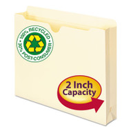 "100% Recycled Top Tab File Jackets, Letter, 2"" Exp, Manila, 50/Box"