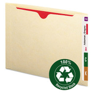 100% Recycled Top Tab File Jackets, Letter, Manila, 50/Box