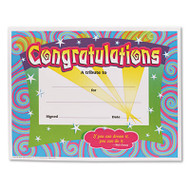 Congratulations Certificates, 8-1/2 x 11, White Border, 30/Pack