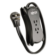 "3-Outlet Travel-Size Surge Protector, 18"" Cord, 2-Port 2.1A USB Charger, 1050 J"
