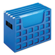 DecoFlex Desktop File w/Folders, Letter, Plastic, 12 1/4 x 6 x 9 1/2, Blue