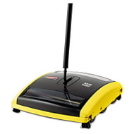 "Brushless Mechanical Sweeper, 44"" Handle, Black/Yellow"