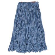 "Cotton/Synthetic Cut-End Blend Mop Head, 16oz, 1"" Band, Blue, 12/Carton"