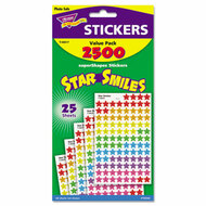Sticker Assortment Pack, Smiling Star,  2500 per Pack