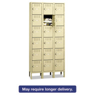 Box Compartments with Legs, Triple Stack, 36w x 18d x 78h, Sand