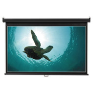Wide Format Wall Mount Projection Screen, 45 x 80, White