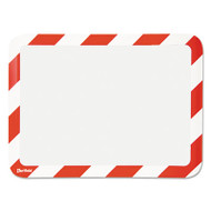 High Visibility Safety Frame Display Pocket-Self Adhesive,10 1/4 x 14 1/2, RD/WH