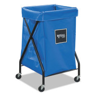 6 Bushel X-Frame Cart with Vinyl Bag, 20 x 22 x 36, 150 lbs. Capacity, Blue